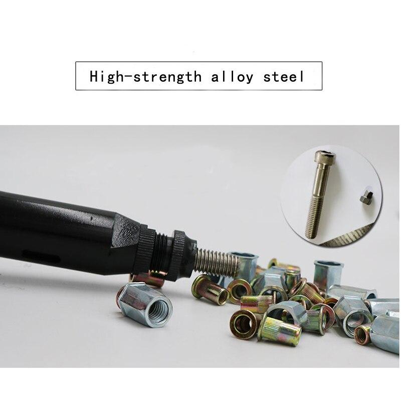 Купить с кэшбэком MY-9802 automatic pneumatic rivet gun air rivet nut gun tool only for aluminum rivet nut pneumatic tools