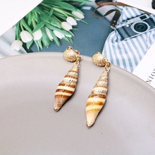 цена Free Shipping Simple Popular Cute Shell Clip Earring онлайн в 2017 году