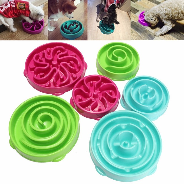 Pet Dog Cat Interactive Slow Food Feeder Bowl Puppy Anti Slip Gulp Feeder Healthy Bloat Dish For Pet Feeding Tools 1Pc 5