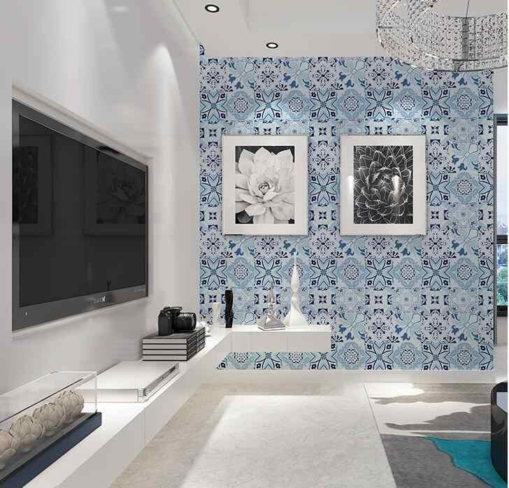 European Waterproof Self Adhesive Wallpaper Bohemia Living Room