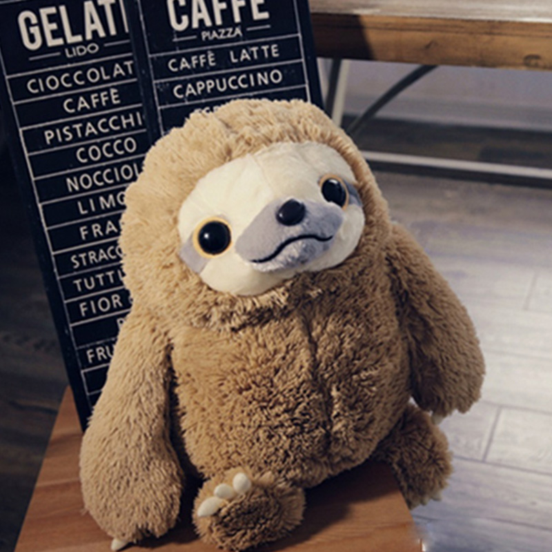 QWZ სიმულაცია Sloth Baby Doll Lifelike Sloth Plush - პლუშები სათამაშოები - ფოტო 2