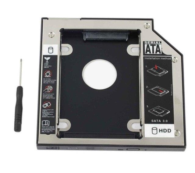 """WZSM חדש 12.7 מ""""מ SATA 2nd SSD HDD Caddy עבור ACER Aspire V3 771G V3 772 V3 772G V3 571G V3 471G קשה דיסק כונן caddy"""