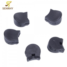 5pcs Practical Rubber Clarinet Finger Cushions Thumb 2 x 2 x 1 cm For Clarinet Woodwind Instruments Parts & Accessories Black