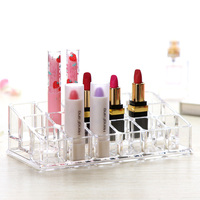 Transparent Cosmetic Storage Acrylic Storage Rack Lipstick Display Makeup Desktop Organizers