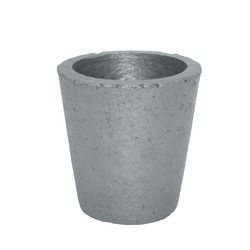 4# Foundry Silicon Carbide Graphite Crucibles Cup Furnace Torch Melting Casting Refining Gold Silver Copper Brass Aluminum
