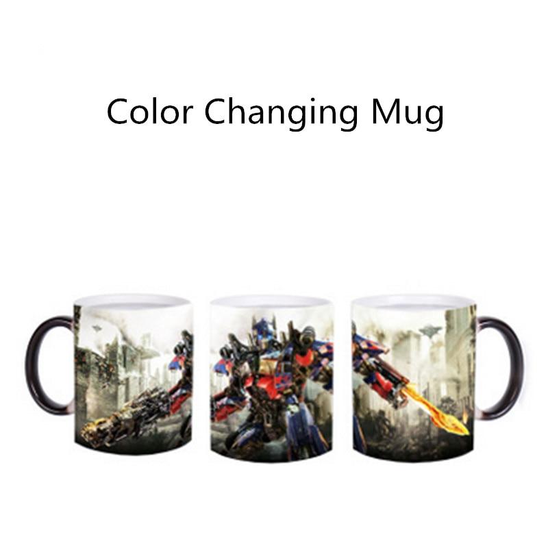 Creative Movie Hero Custom Color Changing Cup Boiling Water Sensitive Magic Mug Color Change Mug A interesting Mug Free Shipping