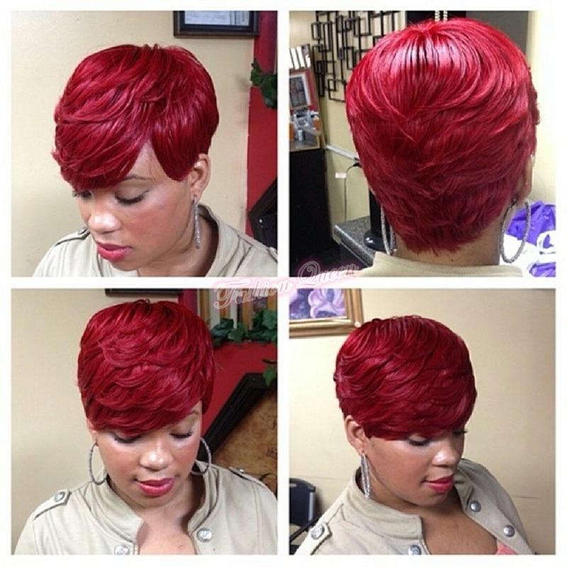 Hot Short Hair 1 1b 2 4 39j 99j Human Straight Hair 28 Pieces Short