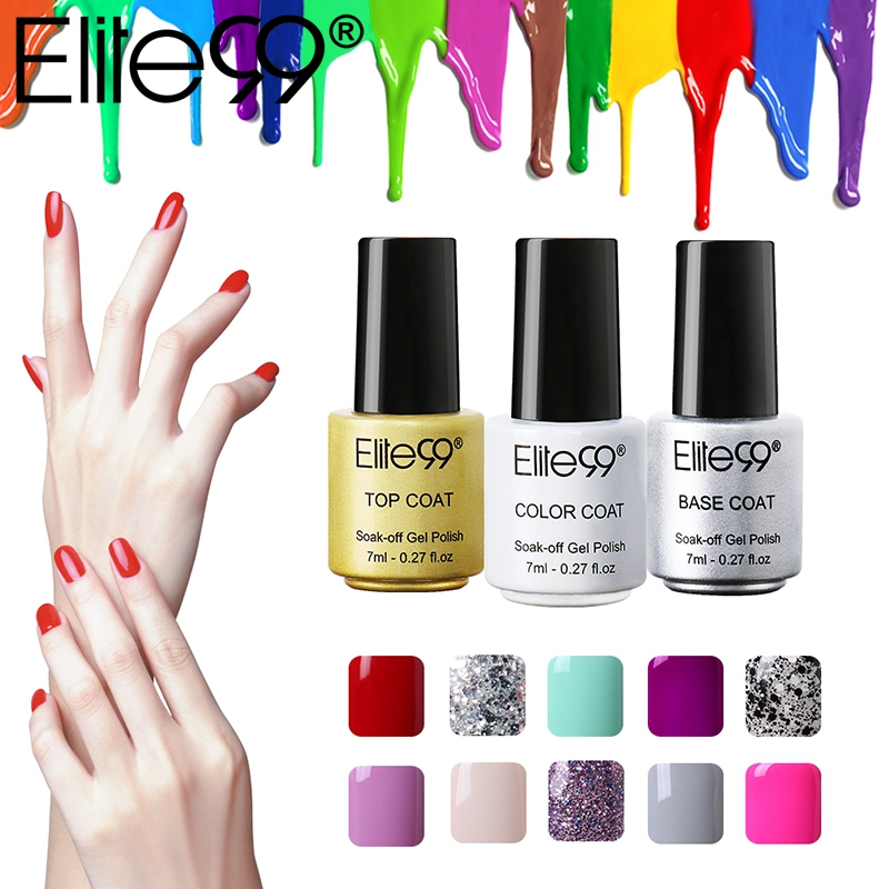 elite99 7ml gel nail polish professional salon uv nail polish gelpolish hottest colors semi. Black Bedroom Furniture Sets. Home Design Ideas