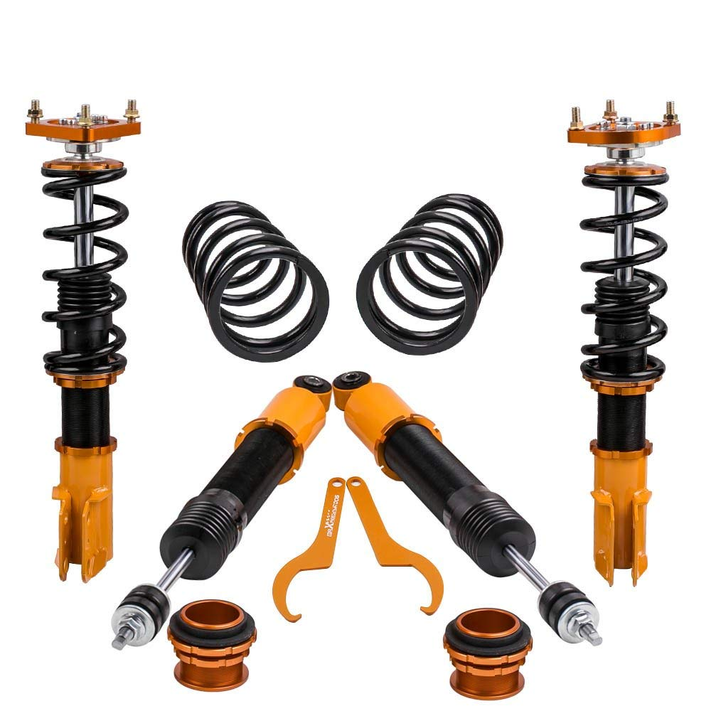 Coilovers Shock Absorber Struts for Ford Mustang 4th 94 04 Adjustable Height Coilover Suspension Front rear Top Mount