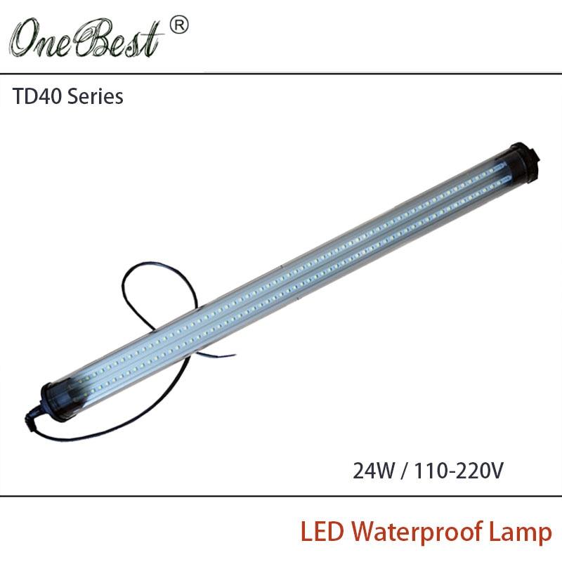 ФОТО HNTD 24W 110V-220V TD40 Led Panel Light Cylindrical Transparent CNC Machine Tool Waterproof Explosion-proof Led Lighting IP67