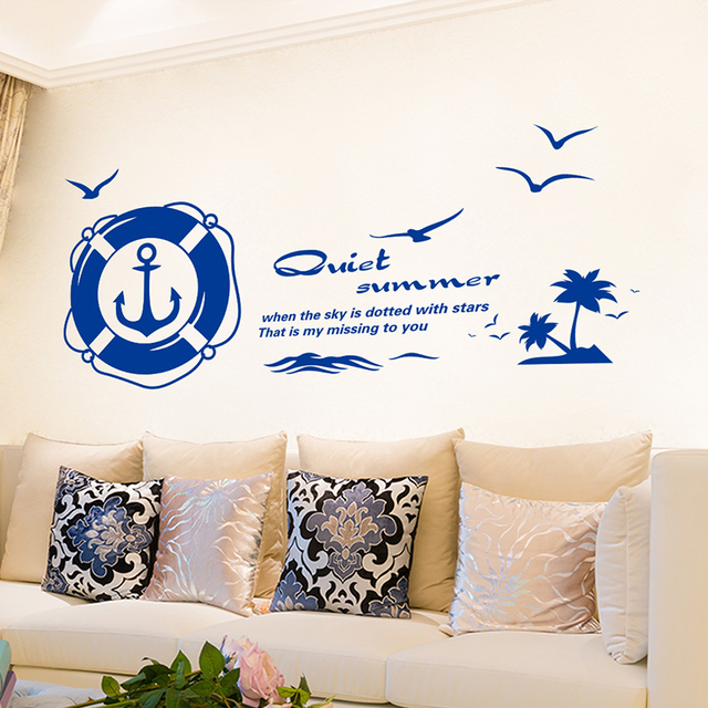 sailing ship anchor wall sticker paintingwall wallpaper diy