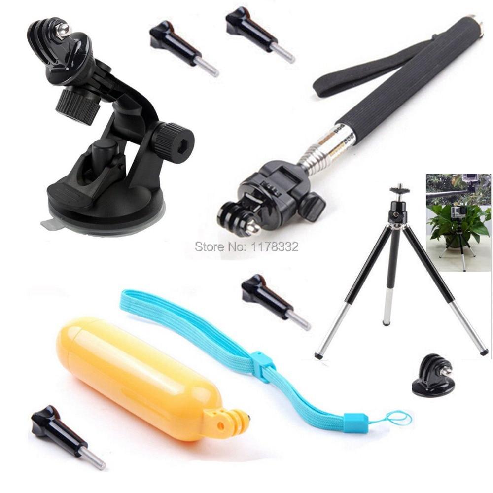 11in1 Floating Grip/Monopod + <font><b>Suction</b></font> <font><b>Cup</b></font> + <font><b>Tripod</b></font> <font><b>Mount</b></font> <font><b>Adapter</b></font> + Screw for Gopro SJ4000 SJ6000 Sports Waterpro of Camera
