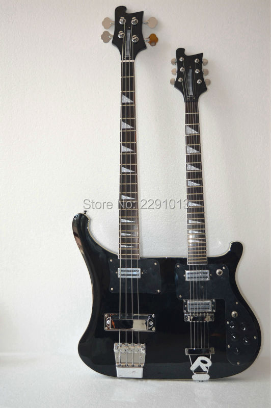 top quality guitar double neck 4003 bass guitar 4 strings 6 strings bass best accessories best. Black Bedroom Furniture Sets. Home Design Ideas