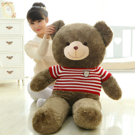 Giant 140cm Teddy Bear Plush Stuffed Toy with Clothes Love Embrace Bears Chrildren Kids Doll Girl's Birthday Christmas gift the lovely bow bear doll teddy bear hug bear plush toy doll birthday gift blue bear about 120cm