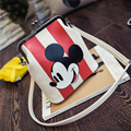 Women Clutch Bag Bucket Messenger Bags Mickey Striped Handbag Stitch Women Leather Shoulder Handbags Bolsa Feminina Bolsas