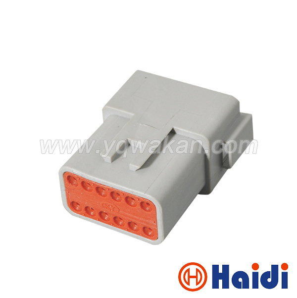 Free Shipping 2sets 12pin Automotive Wiring Harness Housing Plug Plastic Waterproof Male Connector DT04-12P