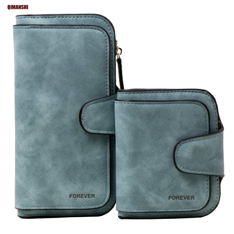 QIMANSHI Retro PU Leather Women Wallet Coin Purse Phone Clutch Long Organizer design Lady Card Holder Money Bag Black