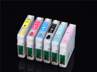 6COLORS SET Inkjet Printer T0791 T0792 T0793 T0794 T0795 T0796 Empty Refillable For Epson Stylus Photo