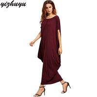 2017 New Large Size Dresses Pure Color Short Sleeve Round Neck Loose Ukraine Vestidos Summer Fashion
