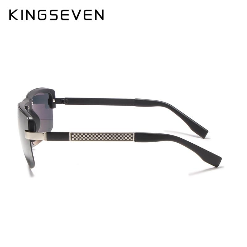 KINGSEVEN HD Polarized Sunglasses Men Rimless Luxury Brand Designer Gafas Masculino Polarizado oculos De Sol