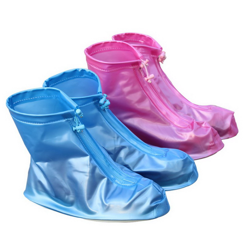 Waterproof Rain Reusable Shoes Covers All Seasons Slip-resistant Rain Boot Overshoes Men & Womens Shoes Accessories S2017454