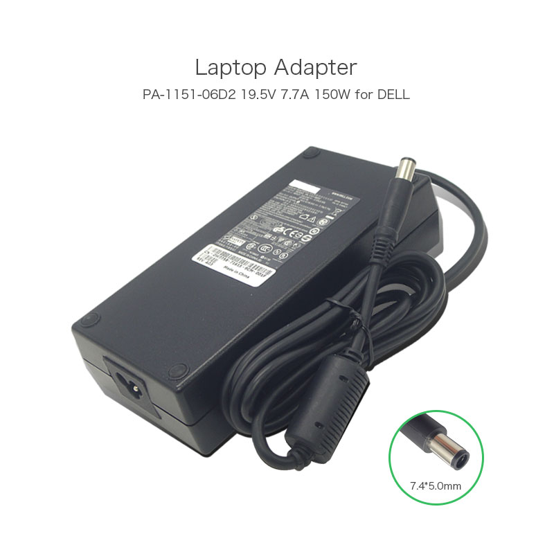 19.5V 7.7A 150W 7.4*5.0mm PA-1151-06D2 PA-15 Family Laptop Battery Charger for Dell ALIENWARE M15X M14X M15X M11X Power Supply стоимость