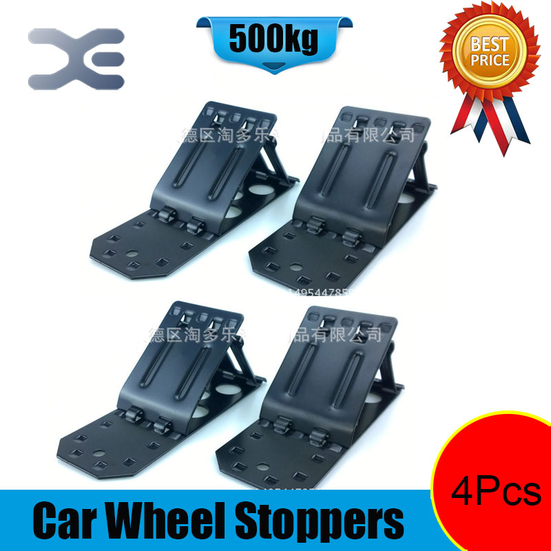 Metal Car Wheel Stoppers Tire Repair Auto Tyre Trim Removal Tool Car Repairing Tool Pack of 4