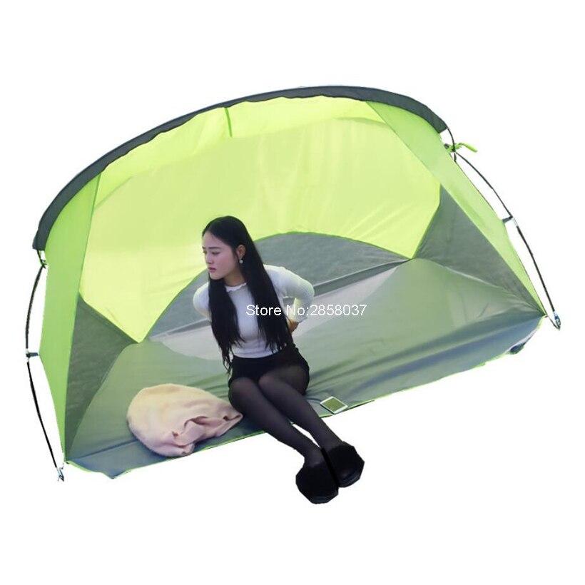 Extérieur anti-pluie Anti-UV 2 3 personnes Camping tente ultraléger monocouche randonnée jardin pêche touristique voyage tente vert