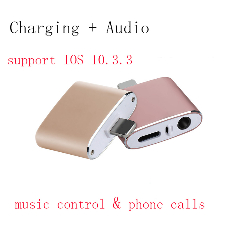 iphone 7 adapter for lightning to earphones aux jack. Black Bedroom Furniture Sets. Home Design Ideas