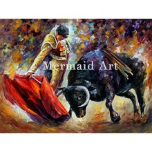 Hand Painted Landscape Abstract Dangerou Opponent Palette Knife Modern Oil Painting Canvas Wall Art Living Room Artwork Fine Art