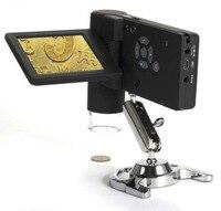 Профессиональный 3,5 дюймовый портативный Встроенный 500x цифровой микроскоп с камерой с измерением 8 светодиодный