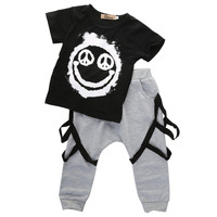 2pcs Newborn Toddler Infant Kids Baby Boy Clothes Summer Sets Cute Minions T Shirt Tops Pants
