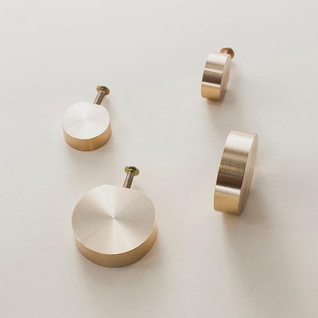 Unique solid brass Cabinet Knob Handle Dresser Knobs Gold Brass Drawer Pulls Handles Modern Simple Knob Kitchen Knobs 4