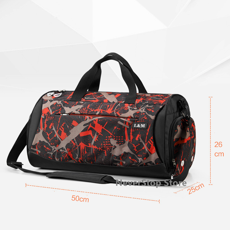 f0b68d753d31 Large Waterproof Men Gym Bag Training Fitness Yoga Women Outdoor Sports  Football Basketball With independent Shoes