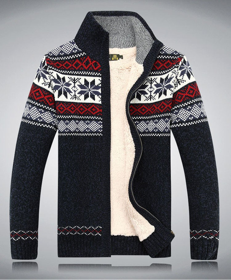 Men Sweater Fashion Autumn Winter Wool Cardigan Men\'s Casual Thick Warm Sweater Male 2016 AFS JEEP Knitting Sweter Hombre M-3XL  (8)
