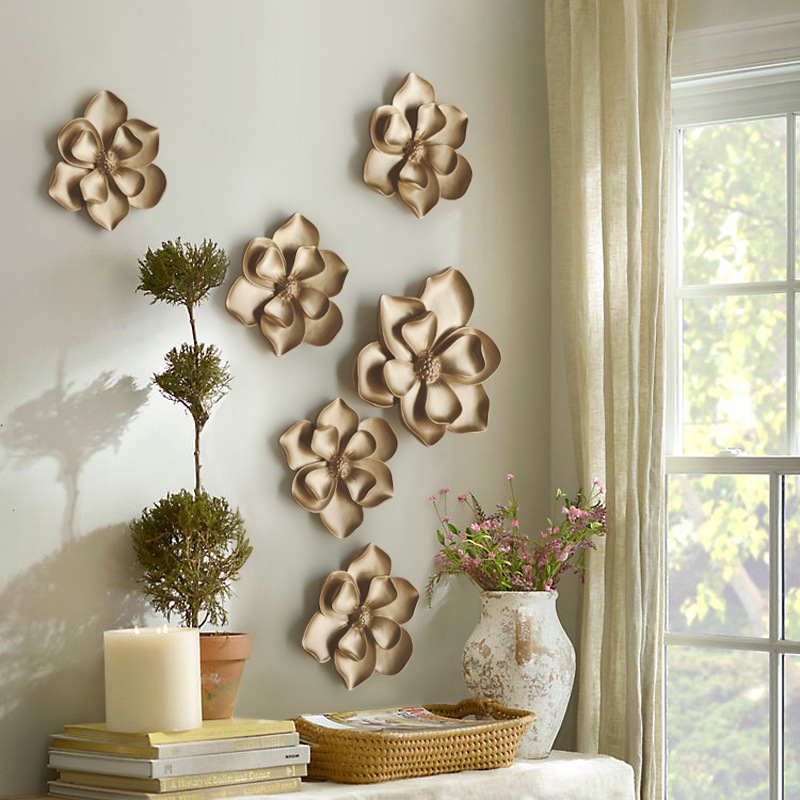 Decorative Pieces For Home: 3d Wall Flower Murals Artificial Resin Flowers For Wedding