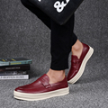 New Arrival Spring Summer British Fashion Popular Slip On Style Thick Sole Height Increasing Soft PU Men's Casual Shoes