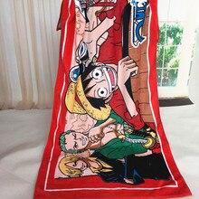 140*70cm Anime Manga One Piece Cartoon Print Children Swimming Beach Bath Towel Cotton