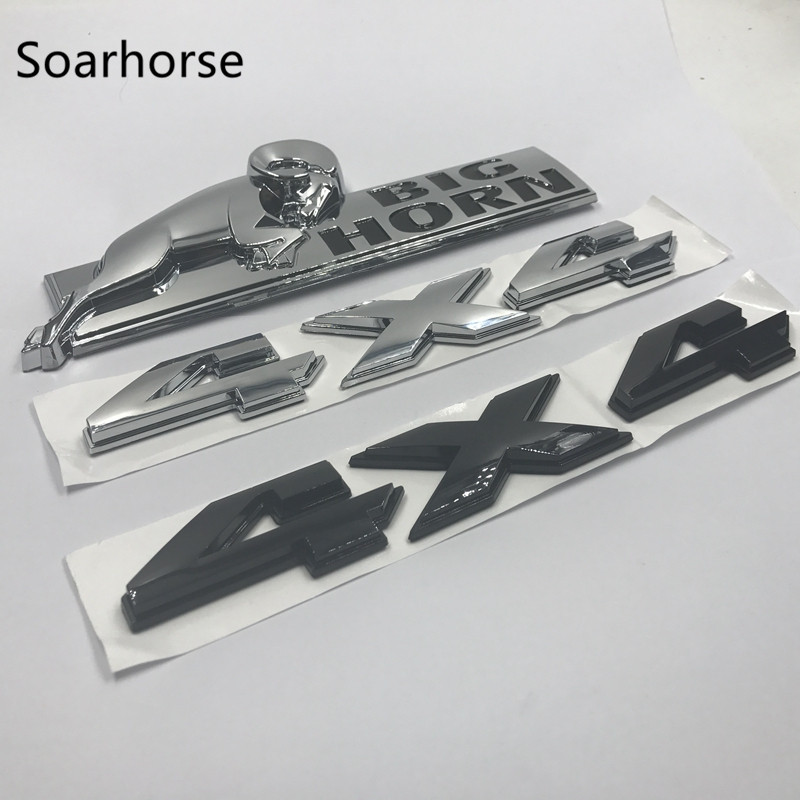 цены Soarhorse Car-styling For 08-15 Dodge Ram 1500 2500 3500 4X4 BIGHORN Big Horn Emblem Nameplate Sticker
