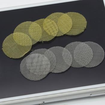 50 sztuk (10 paczek) Silver Gold szisza łączniki rurowe 3 4 #8222 rury metalowy filtry fajka tytoniu ekrany łączniki rurowe tanie i dobre opinie ZOBO Bezpłatne typu