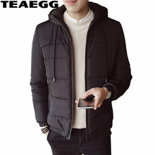 TEAEGG Casual Men's Winter Jackets With A Hood Winter Man Coat Thickening Cotton Jacket Parka Men Clothing Homme Hiver AL525