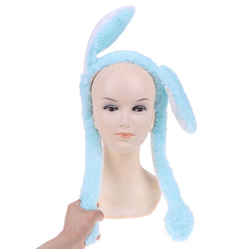 Lindo Gorro con orejas de conejo diadema puede mover lindo gorro de peluche regalo Gorro con movimiento baile de juguete