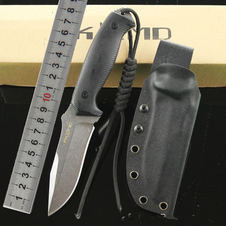 LOKI FOX-02 Feststehende Messer D2 Klinge G10 stahl Griff Jagd ...