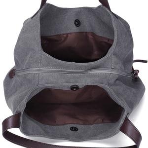 Image 5 - Canvas Bag Women Shoulder Bag Luxury Handbags Ladies Hand Bags Casual Tote Bags For Women 2020 Bolsa Feminina  Sac A Main Femme