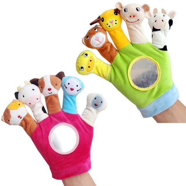 Baby Rattles Kids Hand Doll Plush Toy 0 1 Year Old Baby Cloth Finger