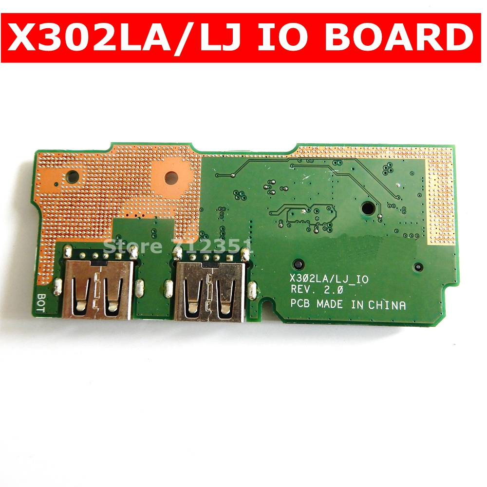 X302LA/LJ IO_Board REV 2.0 For <font><b>ASUS</b></font> X302LA/LJ X302LJ <font><b>X302</b></font> X302L X302LA USB BOARD IO Connectors 60NB0710-101020 Test 100% ok image