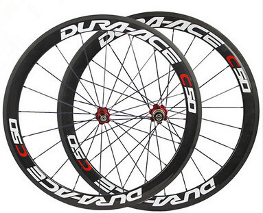 Cheap good price chinese oem dur a ace carbon bike clincher wheels road bicycle wheelset 50mm powerway hub for sale