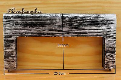 10 inch x 5 inch 25.5 cm x 2.5 cm wooden purse frame M12