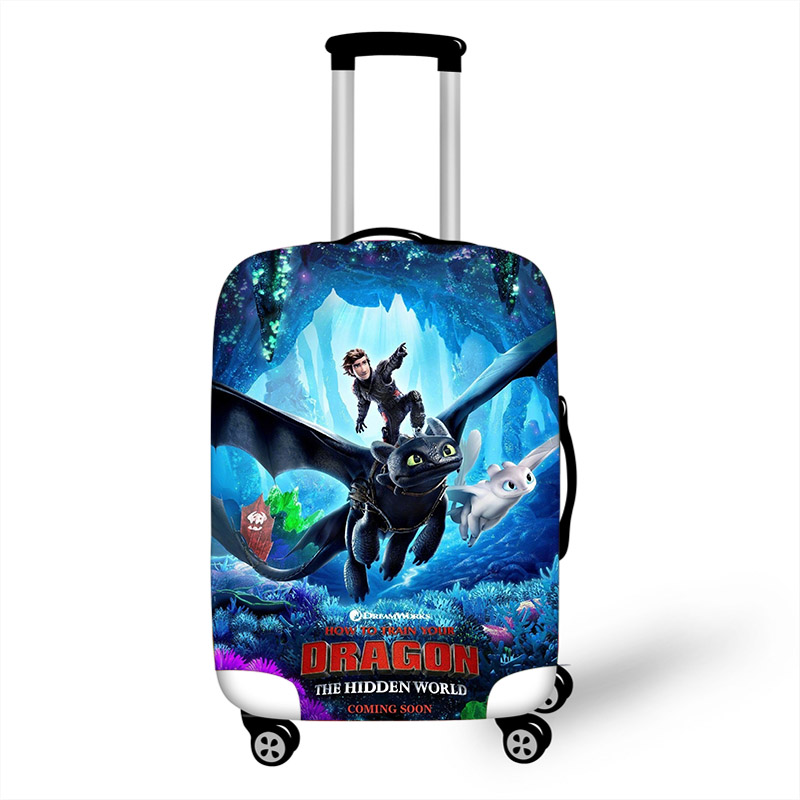 18-32 Inch Dragon Elastic Luggage Protective Cover Trolley Suitcase Dust Bag Case Cartoon Travel Accessories
