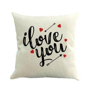 Image 5 - 2019 последняя горячая Распродажа INS styleHappy Valentine наволочки льняные чехлы для диванов наволочки для домашнего декора наволочки